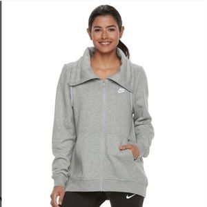 Nike. Funnel neck classic hoodie style zip up